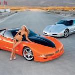 bionda e chevrolet_corvette+silver_c5
